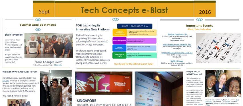 Tech Concepts e-Blast – Sept 2016
