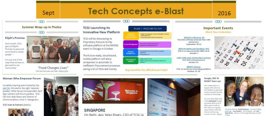 Tech Concepts e-Blast – Sept 2016