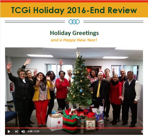 TCGi 2016 Holiday Message & Exciting News