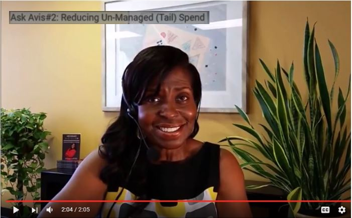 Ask Avis Webisode Series #2: Reducing Un-Managed (Tail) Spend